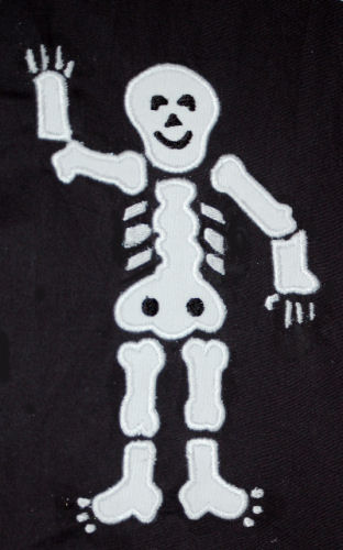 Skeleton Applique Design-halloween, scary, skeleton, bones