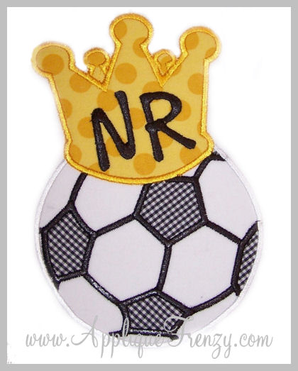 King of the Soccer Field Applique-