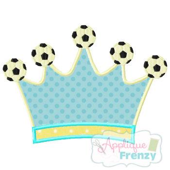 Soccer Queen Applique Design-soccer, soccer girl, soccer crown, soccer queen, soccer princess, girly soccer