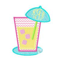 Summer Lemonade Applique Design-lemonade, summer drink, beach, summer, sun
