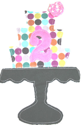 Three Tier Cake on Stand Applique Design-cake, wedding, birthday, cake stand, three tier, 3 tier, tier cake