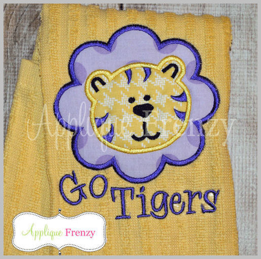 Tiger Scallop Patch Applique Design-