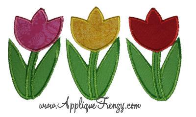 Tulip Trio Applique Design-