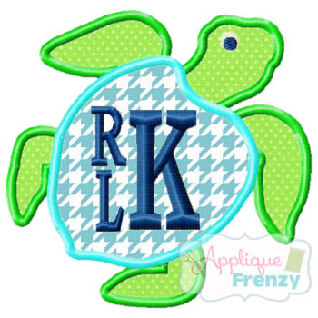 Turtle Applique Design-3 Variations-turtle girl summer