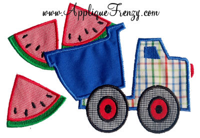 Watermelon Dumptruck Applique Design-