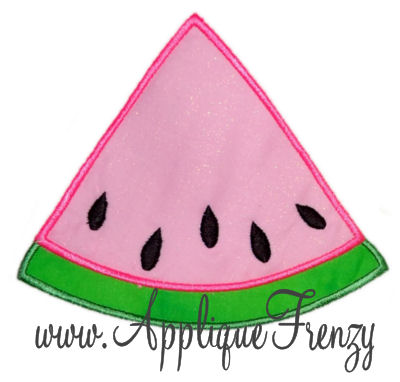 Watermelon Slice Applique Design-