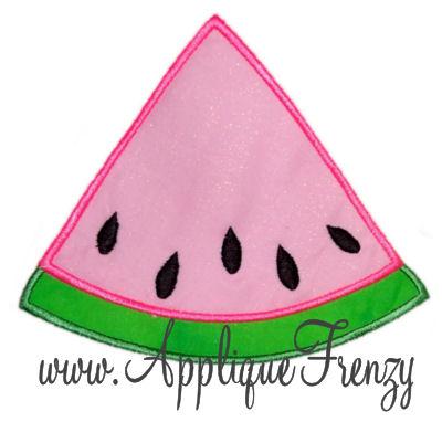 Watermelon Slice Applique Design-