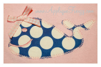 Simple Whale Applique-