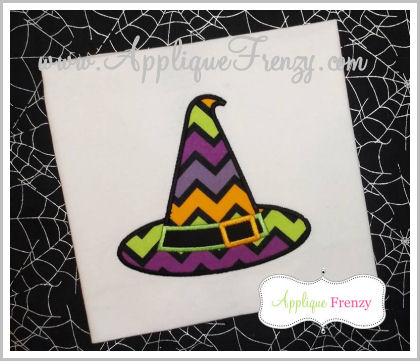 Witch Hat 2 Applique Design-
