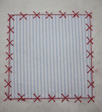 Square Patch Applique Design-square patch, x stitch