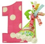 Number 1 Birthday Hat Applique Design