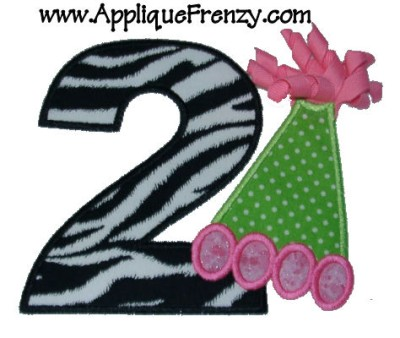 Second Birthday Hat with Korkers Applique Design-