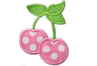 Cherries Applique Design