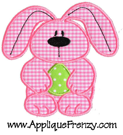 EGG-ster Bunny Applique Design