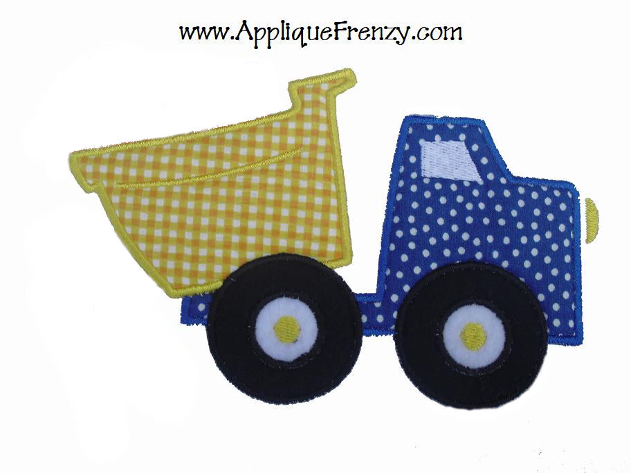 Dumptruck 2 Applique Design