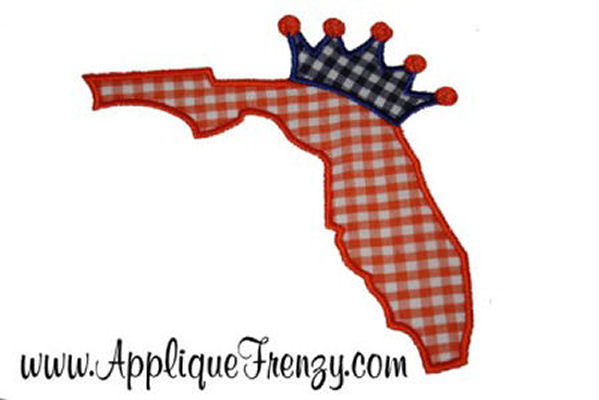 Florida Princess Applique Design-florida, florida girl, princess, palm tree, sunshine, summer, sunshine state