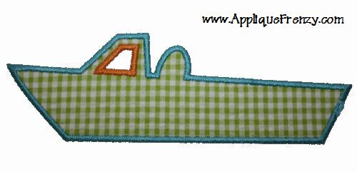 Sport Boat Applique Design