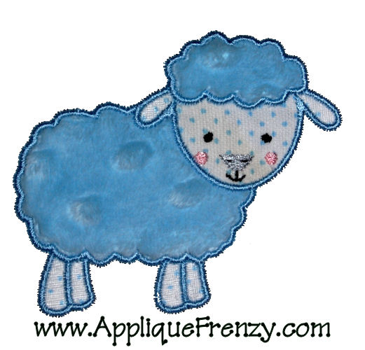 Sheep Applique Design-sheep, farm, animal