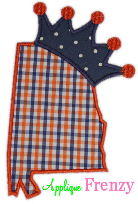 Alabama Princess Applique Design-alabama, auburn, southern , south, football, houndstooth, princess