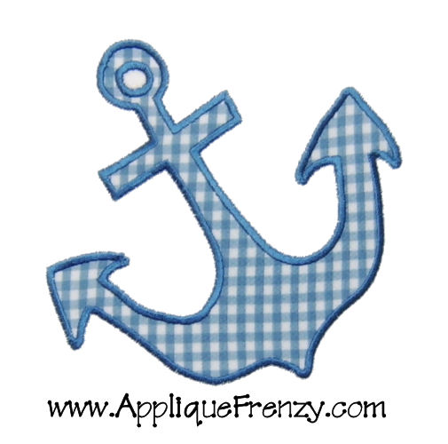 Anchor Applique Design-anchor, summer, sail, sun, fun ,beach, boy, kelly's kids