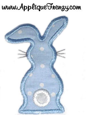 Backview Bunny Applique Design-easter, backview, bunny