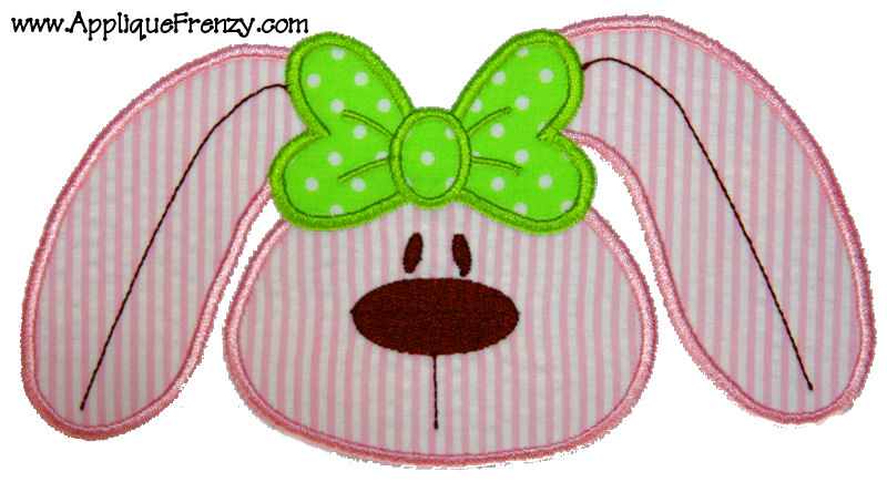 BOWdacious Bunny Face Applique Design