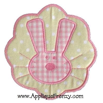 Bunny Patch Applique Design-
