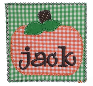 Chubby Pumpkin Patch Applique Design
