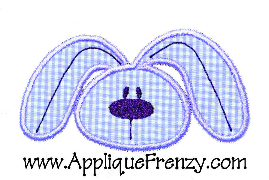 Cute Bunny Face Applique Design