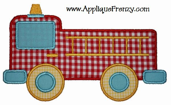 Fire Truck Applique Design-fire truck, police, communtiy helpers, fireman, 911
