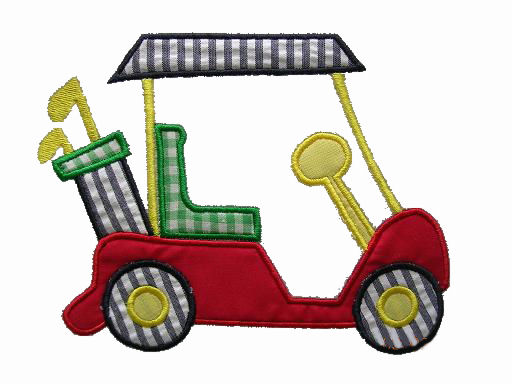 Golf Cart Applique Design-golf cart, boy