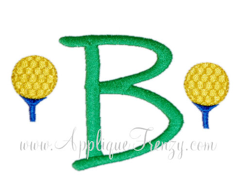 Golf Tee Alphabet Embroidery Design