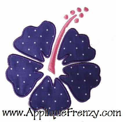 Hibiscus Flower AppliqueDesign-hibiscus, flower, summer, surf