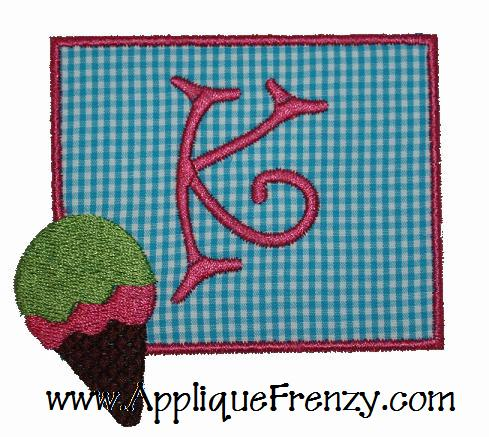 Ice Cream Cone Patch Applique Design