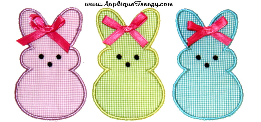 Marshmallow Bunnies Applique Design-