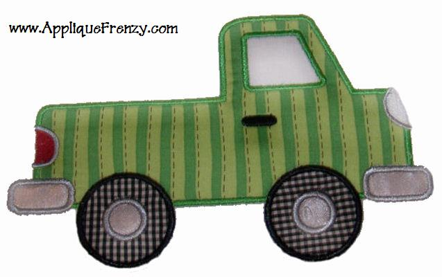 Pickup Truck Applique Design-pickup, truck, pickup truck, boys, transportation