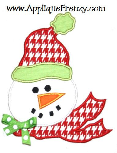 Snowman Applique Design-winter, christmas, snowman