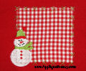 Snowman Patch Applique Design