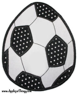 Soccer Easter Egg Applique Design