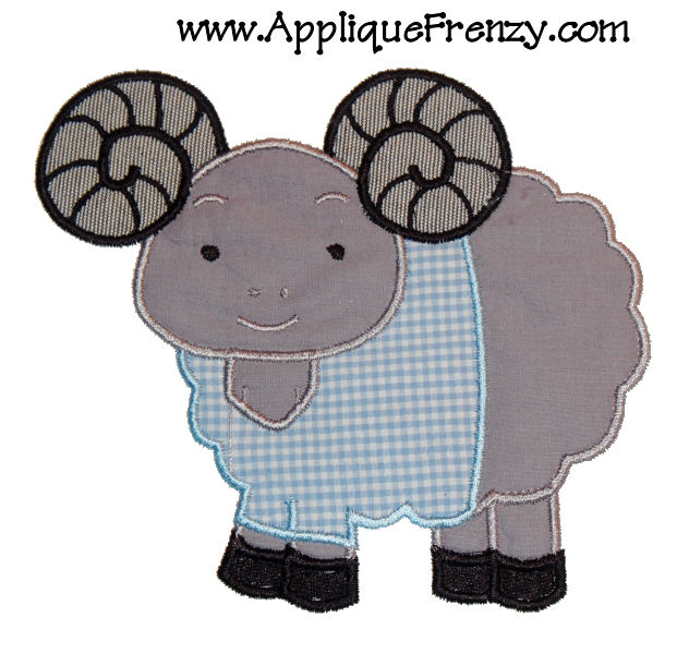 Spirit Ram Applique Design-unc, tarheel, tarheels, university of north carolina, carolina blue, ram, chapel hill
