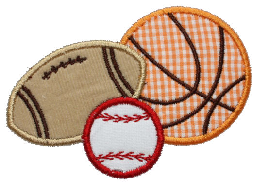 Sports Balls Combo Applique Design