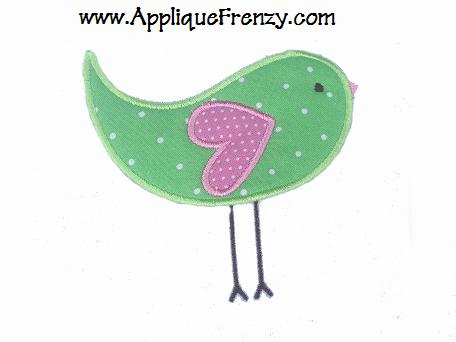 Spring Bird Applique Design-bird, spring bird