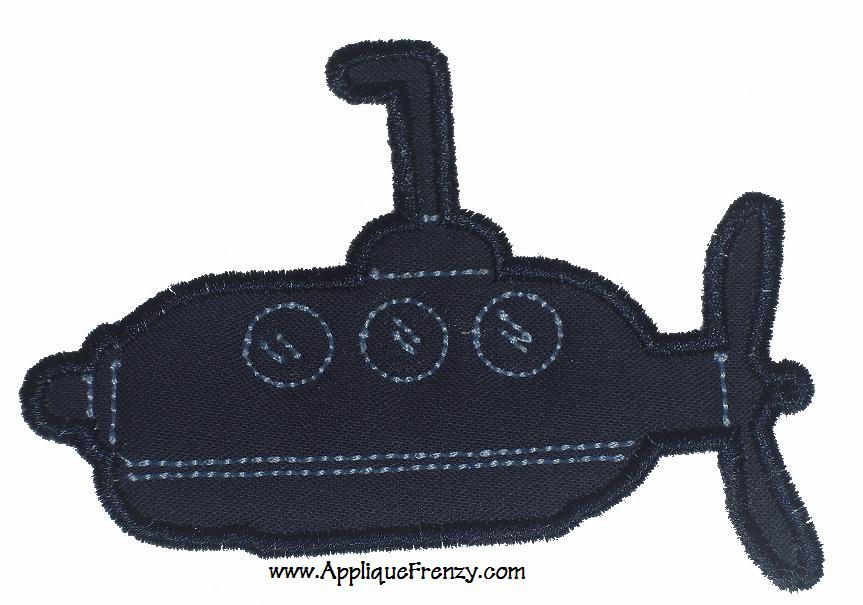 Submarine Applique Design-submarine, summer