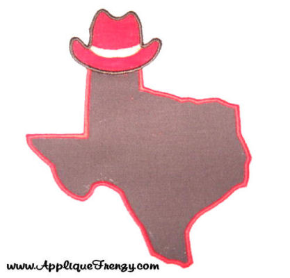 Texas Cowboy Applique Design