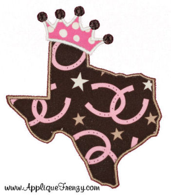Texas Princess Applique Design