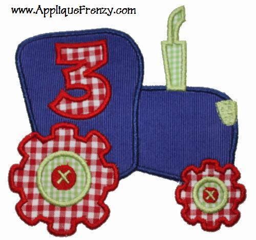Tractor Applique Design-birthday tractor, tractor, boy, farm, equipment, tractor