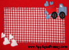 Valentine Dumptruck Rectangle Patch Applique Design