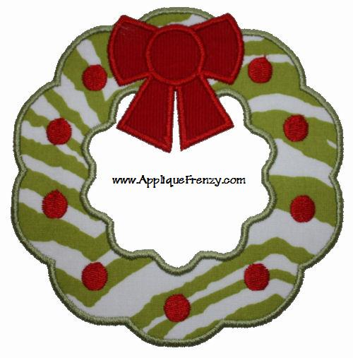 Wreath Applique Design-wreath, christmas, holiday
