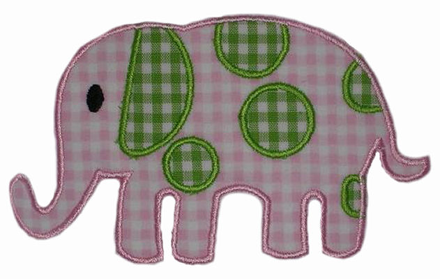 Spotted Elephant Applique Design