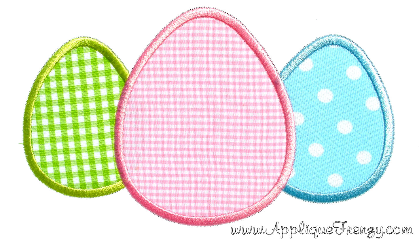 Egg Trio For Monogram Applique Design